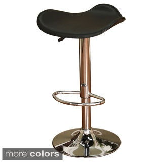 Sloan Chrome Finish Adjustable Height Bar Stool