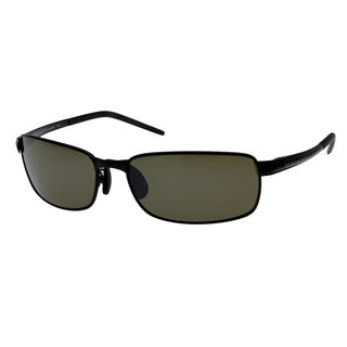 Serengeti Vento Satin Black Polarized Drivers Sunglasses