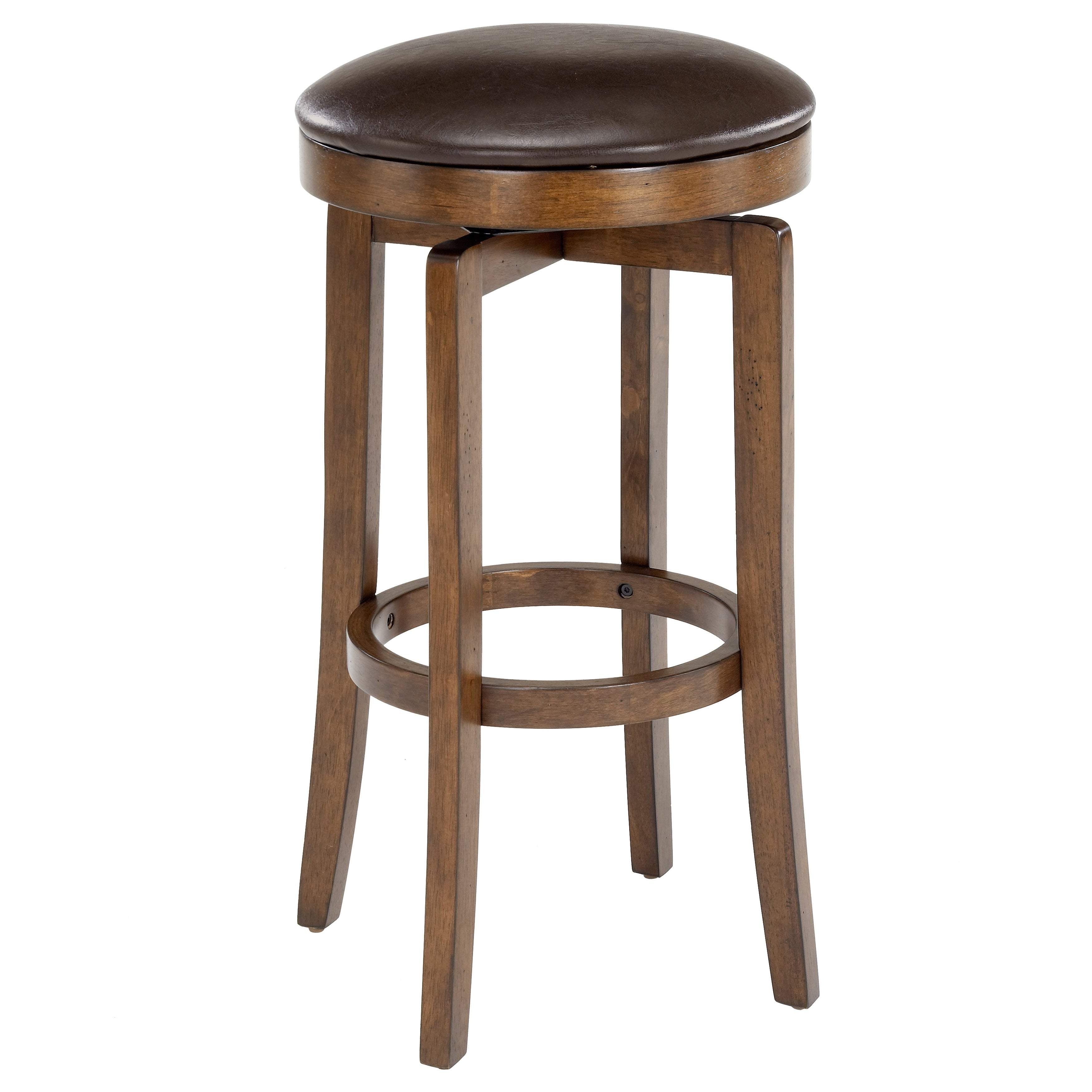 brendan backless brown cherry stool on popscreen