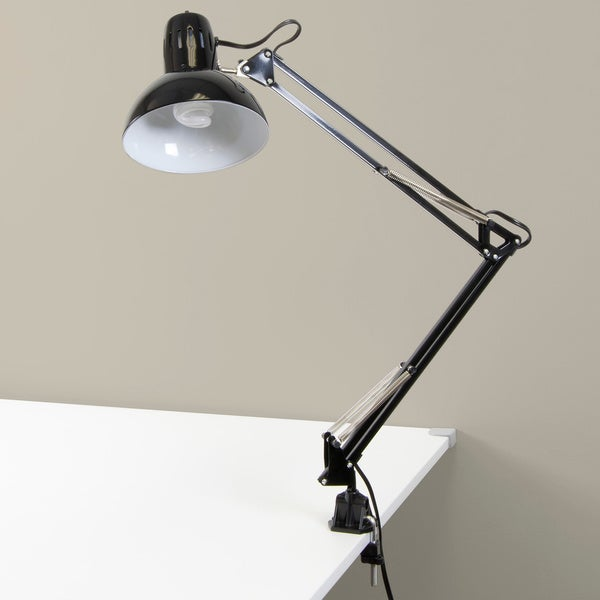 Studio Designs Swing Arm Black Lamp