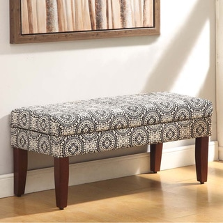 Medallion Print Storage Bench