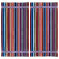 Candy Stripe Velour Beach Towel (Set of 2)