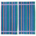 Stripe Velour Beach Towel (Set of 2)