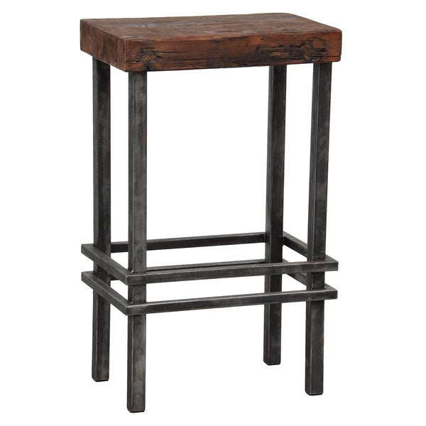Rover Reclaimed Pine Iron Bar Stool