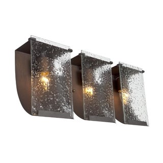 Varaluz Rain 3-light Hammered Ore Vanity Fixture