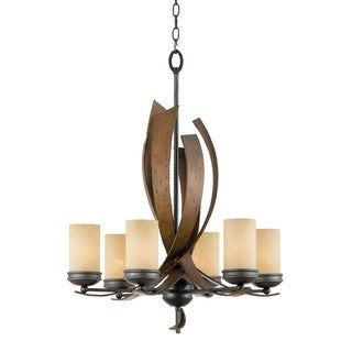 Varaluz Aizen 6-light Hammered Ore Chandelier