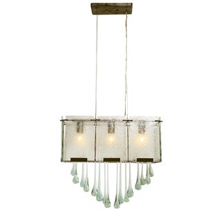 Varaluz Rain 3-light Rainy Night with Drops Linear Pendant