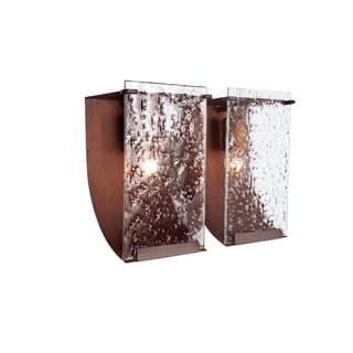 Varaluz Rain 2-light Hammered Ore Vanity Fixture