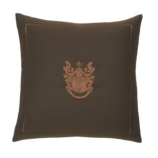 Modern Living Pearce 16-inch Embroidered Crest Pillow