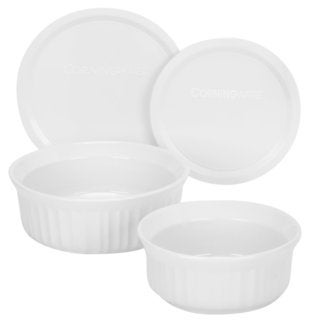 CorningWare French White Round 4-piece Mini Dishes Set