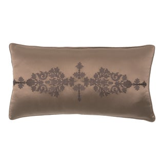 Pearce Embroidered Satin Decorative Throw Pillow