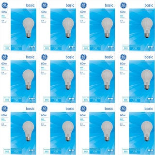 GE 41026 Set of 4 60-Watt 865-Lumen A19 General Purpose Bulb (12 Pack)