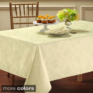 Chatterly Microfiber Damask Tablecloth