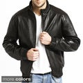 Tanners Avenue Men's Lambskin Leather Bomber Jacket