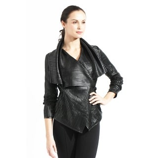 Tanners Avenue Women's Black Vegan Leather Wrap Jacket