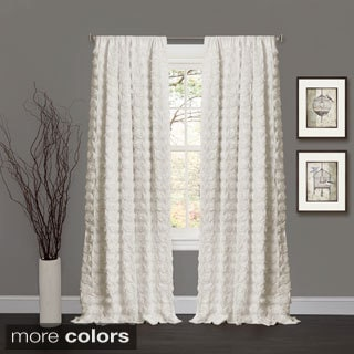 Lush Decor Emma Rosette 84 inch Curtain Panel