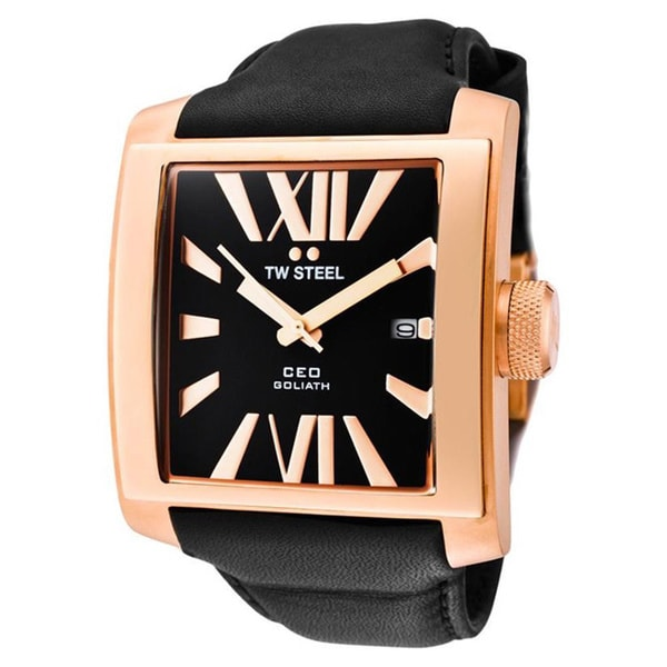 TW Steel Men's 'CEO Goliath' Rose Gold-Plated Steel Watch