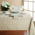 Lenox Lenora Champagne Leaf Damask Tablecloth