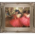 Edgar Degas 'Dancers in Pink' Hand-painted Framed Canvas Art