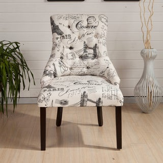 HLW Kantoi French Stamp Print Luxury Dining Chairs (Set of 2)