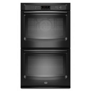Maytag 30-inch Black Steel Double Oven