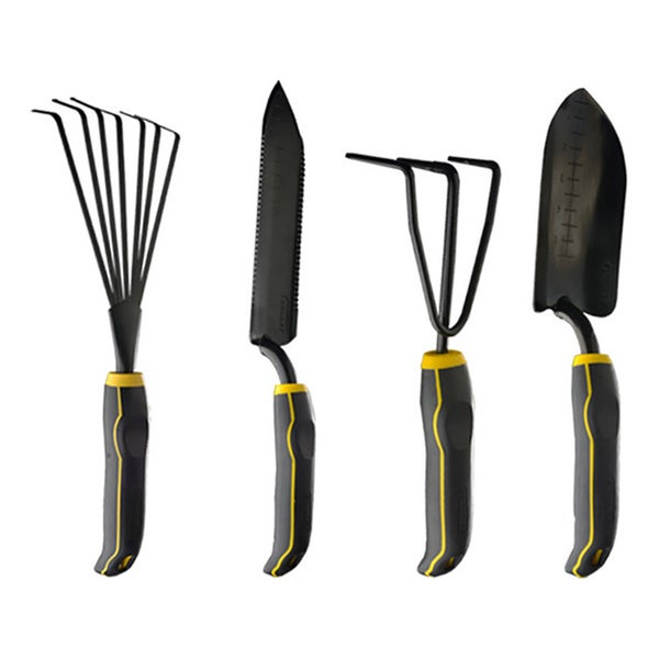 Stanley 4-piece Black/ Yellow Garden Digging Kit