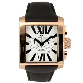 TW Steel Men's CEO Goliath White Dial Watch