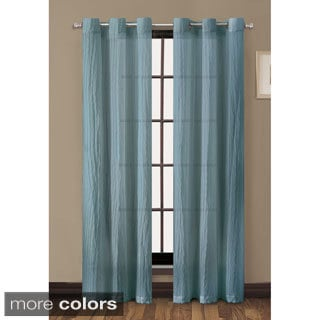 Sierra Crushed 84-inch Grommet Curtain Panel