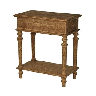 Handcrafted Light Brown Distressed Wood Console Table (China)