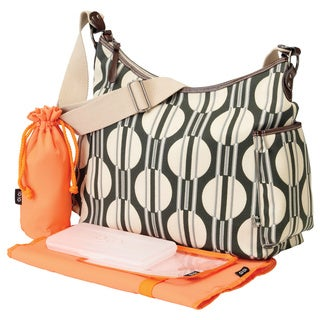 OiOi Hobo Diaper Bag in Dot Stripe