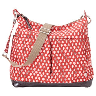OiOi Hobo Diaper Bag in Poppy Red