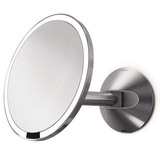 simplehuman 8-inch Stainless Steel Wall-mount Sensor Mirror