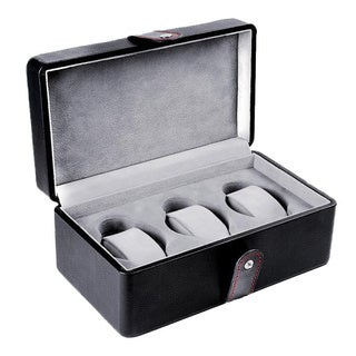 Android Leatherette 3-Slot Travel Case Black Watch Box