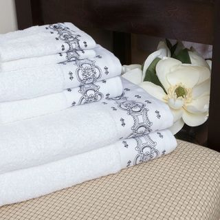 Eileen West Greco-Roman 6-piece Embroidered Towel Set