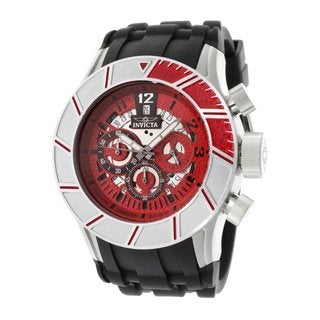 Invicta Men's Pro Diver Black/Red Polyurethane Chronograph Watch
