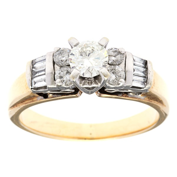 Pre-owned 14k Yellow Gold 1ct TDW Diamond Antique Engagement Ring (H-I, SI1-SI2)