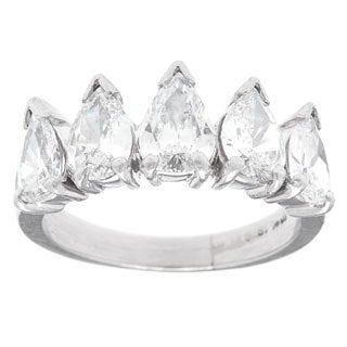 Platinum 2ct TDW 5-stone Cluster Estate Ring (H-I, SI1-SI2)