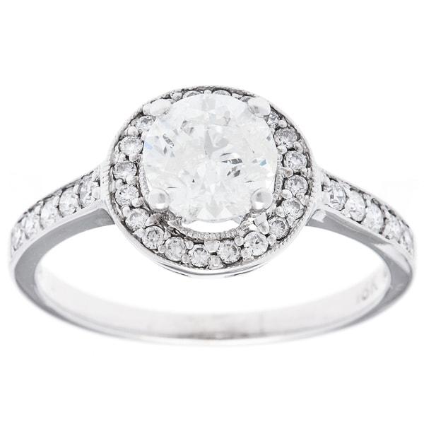 Pre-owned 18k White Gold 1 1/3ct TDW Estate Engagement Ring (H-I, I2-I3)