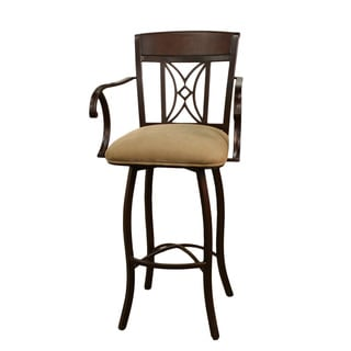 Atlantis 30-inch Umber/ Basil Steel Swivel Bar Stool