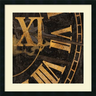 Russell Brennan 'Roman Numerals I' Framed Art Print (26 x 26-inch)