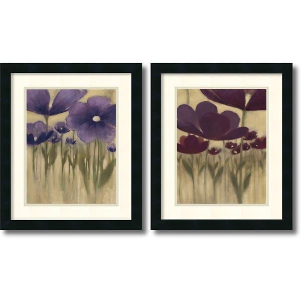 """Vittorio Maria 'Summer Blooms - set' Framed Art Print"""