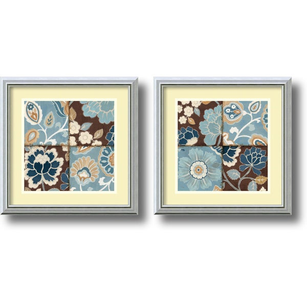 """Alain Pelletier 'Patchwork Motif - set' Framed Art Print"""