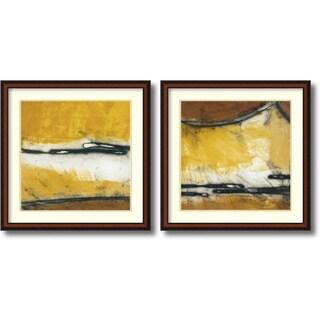Niro Vasali 'Venture I & II' 33 x 33-inch Framed Art Print (Set of 2)