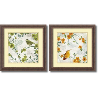 """Tandi Venter 'Birds & Butterflies - set' Framed Art Print"""