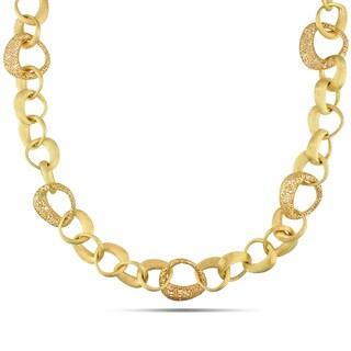 Miadora 18k Yellow Gold Fancy Link Necklaces
