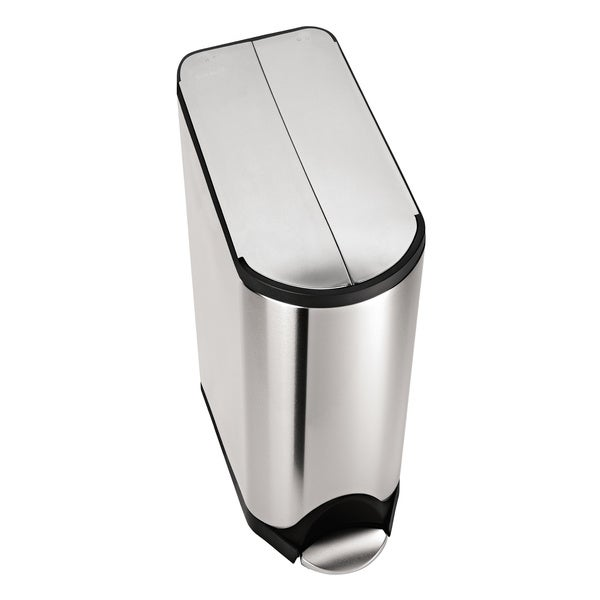 simplehuman Butterfly Step Recycler, Fingerprint-Proof Brushed Stainless Steel, 20+20 Liters/ 5.3+5.3 Gallons