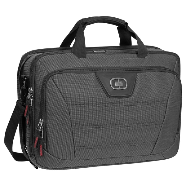 OGIO Black Pindot Renegade 17-inch Laptop Briefcase