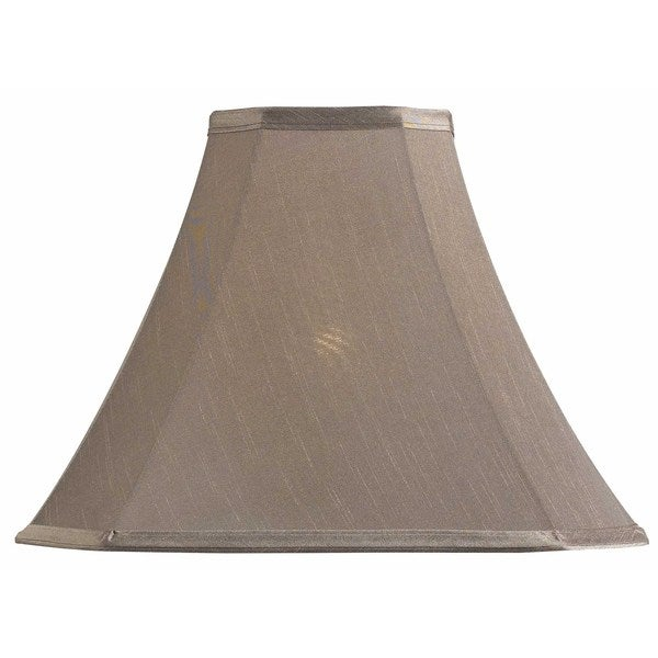 design match 15 inch cut corner square taupe lamp shade. Black Bedroom Furniture Sets. Home Design Ideas