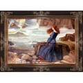 John William Waterhouse 'Miranda The Tempest' Hand-painted Framed Canvas Art