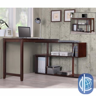 International Caravan 'Hamburg' Contemporary Swing Out Desk/ Bookshelf